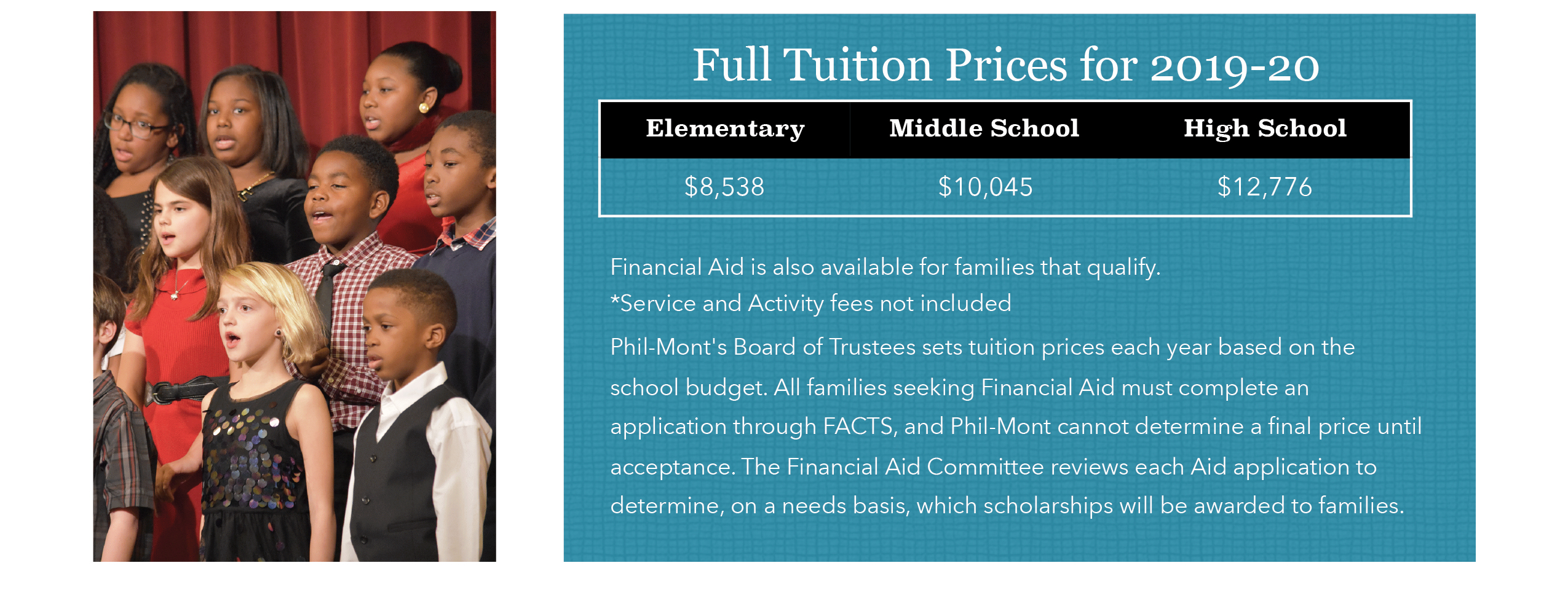 Tuition Schedule - Phil-Mont Christian Academy